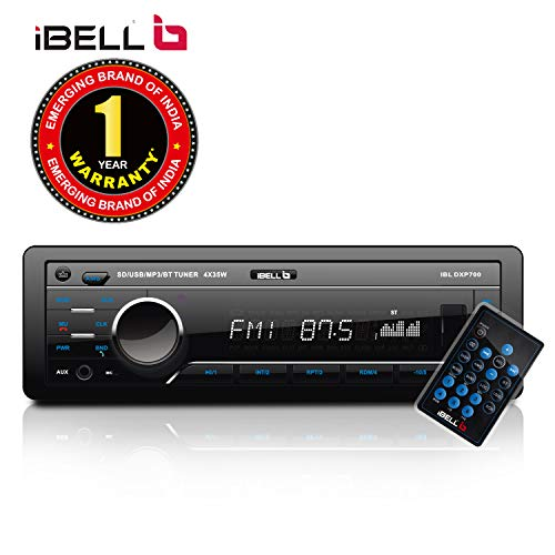 iBELL IBL DXP 700 Car Stereo 140W Car Stereo Media MP3 Music System, Bluetooth One Touch to Receive Call with FM/AUX/USB/MMC