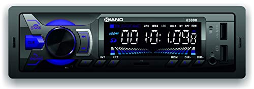 Kiano K3000 Single Din Car Stereo Player Mp3 with Dedicated Mobile app/Bluetooth/FM/ 2 USB Ports/SD Card/Aux